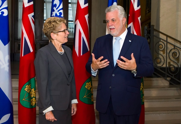 Wynne and Couillard want infrastructure funds
