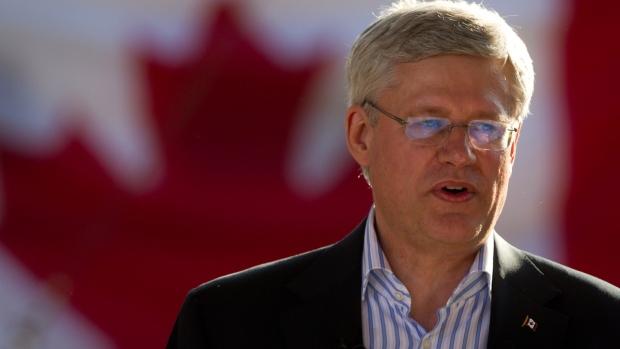 Prime Minister Stephen Harper in Langley, B.C.