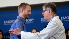 Ebola patient Dr. Kent Brantly leaves hospital