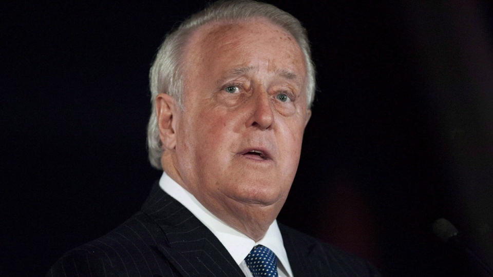 Former prime minister Brian Mulroney is shown in Ottawa on Tuesday, April 8, 2014. (Justin Tang / THE CANADIAN PRESS)