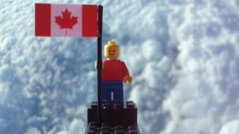 Two 17-year-old Agincourt Collegiate Institute students successfully launched a balloon carrying a Lego man and a small Canadian flag out of earth's atmosphere.