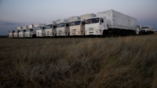 Aid trucks on their way to eastern Ukraine