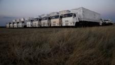 Aid trucks on their way to eastern Ukraine