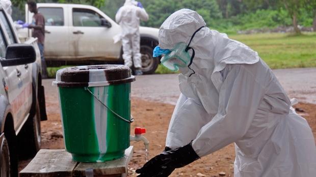 Ebola worker in Liberia