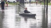 MyNews: Paddling along a flooded street