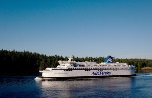 BC Ferries vessel Spirit of Vancouver Island passes between Galiano Island and Mayne Island while traveling from Swartz Bay to Tsawwassen, B.C., on Friday August 26, 2011. (Darryl Dyck/THE CANADIAN PRESS)