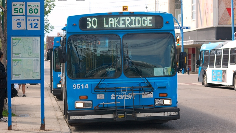 File photo of Saskatoon Transit bus.