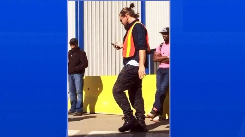 Actor Leonardo DiCaprio was seen in Fort McMurray and Fort Chipewyan, Alta., on Friday, Aug. 22, 2014. (Photo courtesy Brandon Farrell)