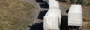 Russian aid trucks in Ukraine