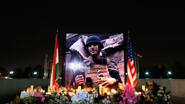 Photograph of James Foley in Irbil, Iraq