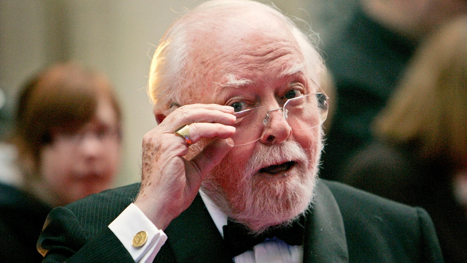British actor and director Richard Attenborough arrives at the Galaxy British Book Awards in London Wednesday, April 9, 2008. (AP / Lefteris Pitarakis)