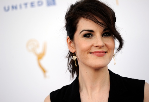 Michelle Dockery poses at nominee party