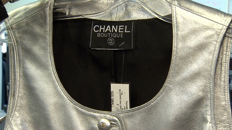 A Chanel leather vest which retails for $2,000 is being sold for $575 secondhand in a Vancouver consignment shop (CTV).