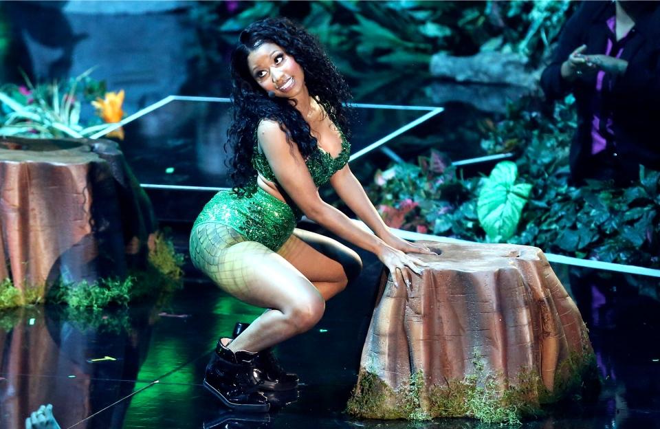 Nicki Minaj performs at the MTV Video Music Awards at The Forum on Sunday, Aug. 24, 2014, in Inglewood, Calif. (Invision / Matt Sayles)