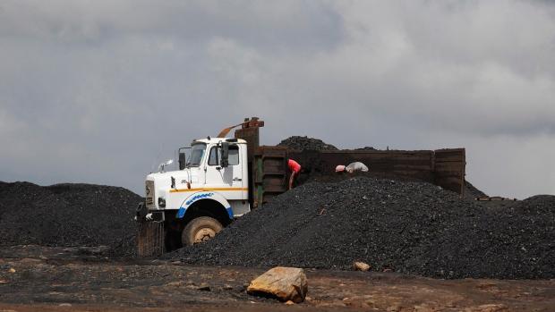 Coal depot at Khliehriet, Meghalaya, India