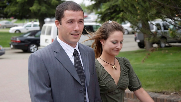 Shawn Hennessey and his wife Christine in 2008