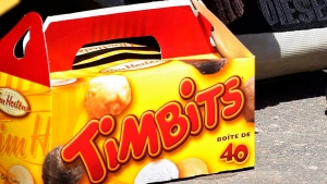 A box of Timbits donuts is seen in this undated file photo. (THE CANADIAN PRESS/Jeff McIntosh)