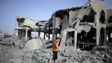 Damage after Israeli strike in Gaza City