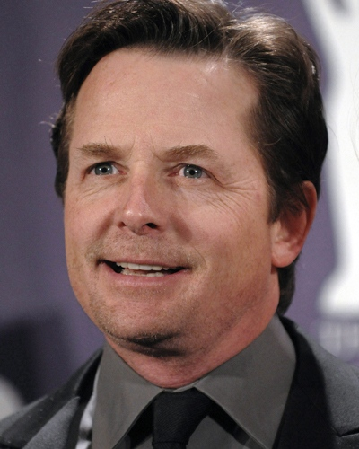 In this March 10, 2008, file photo, actor Michael J. Fox poses backstage at the Rock and Roll Hall of Fame Induction Ceremony in New York. THE CANADIAN PRESS / AP-Evan Agostini