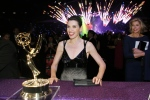 Julianna Margulies attends the Governors Ball at the 66th Primetime Emmy Awards at the Nokia Theatre L.A. Live in Los Angeles on Monday, Aug. 25, 2014. (Danny Moloshok / Invision for the Television Academy)