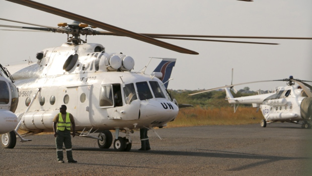 UN helicopter shot down in South Sudan
