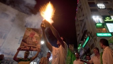 Celebration in Gaza City over cease-fire
