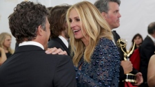 Mark Ruffalo and Julia Roberts at the Emmy Awards