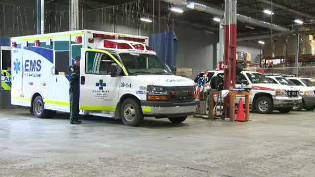 Calgary ambulances