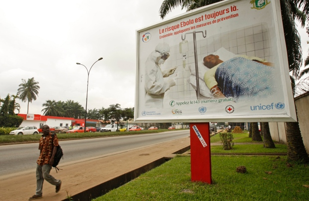 Ebola awareness campaign poster