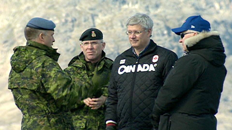 Prime Minister Stephen Harper is seen in Baffin Island, Nunavut, Wednesday, Aug. 27, 2014.
