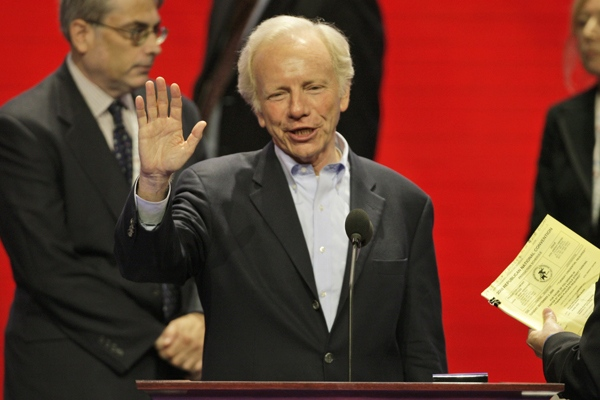 U.S. Senator Joe Lieberman, I-Conn., is shown in this file photo. (AP / Ron Edmonds)