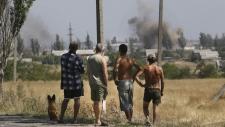 Shelling in Ukrainian town of Novoazovsk