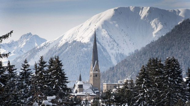 The mountain resort of Davos pictured during the last day of the 42nd Annual Meeting of the World Economic Forum, WEF, in Davos, Switzerland, Sunday, Jan. 29, 2012. (AP Photo/Keystone/Laurent Gillieron)