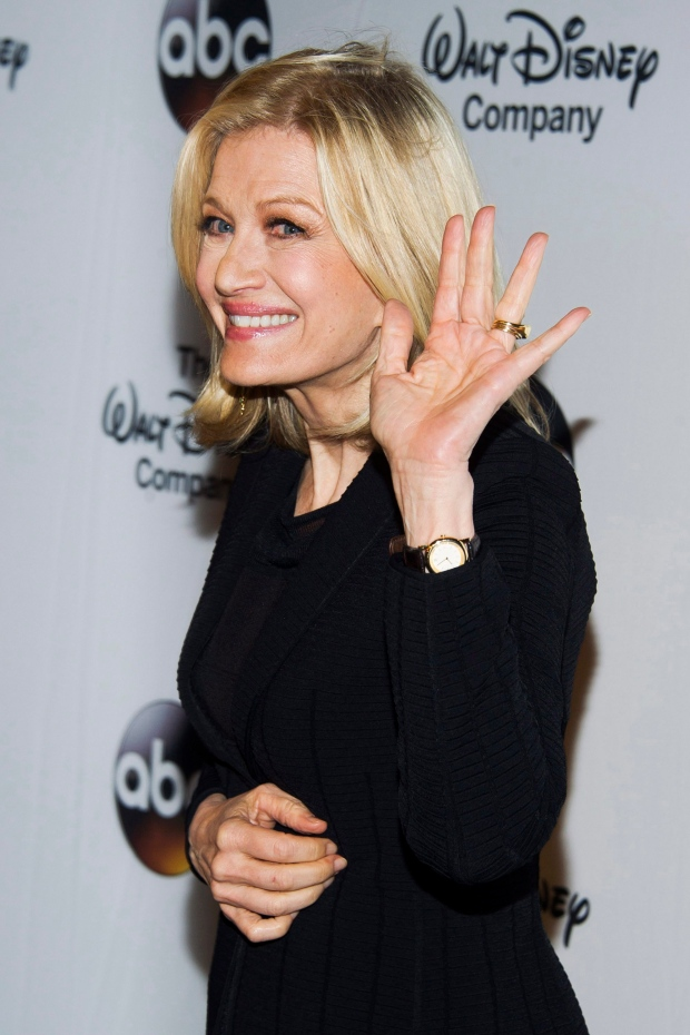 Diane Sawyer at Four Seasons restaurant