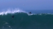 Extended: Surfers hit huge hurricane waves