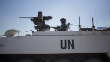 UN peacekeepers at Israeli-Syria border