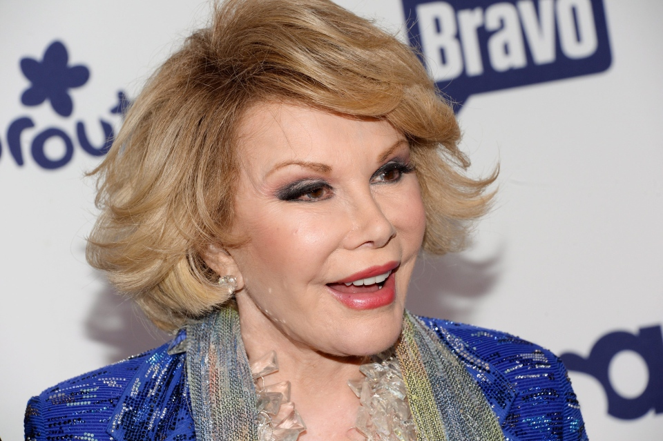 Joan Rivers attends the NBCUniversal Cable Entertainment 2014 Upfront at the Javits Center in New York on Thursday, May 15, 2014. (Invision / Evan Agostini)