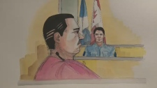 Magnotta court sketch