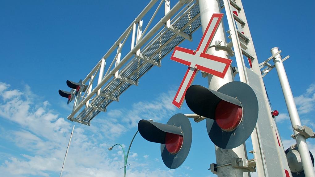 Rail crossing 22nd Street Saskatoon