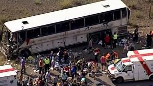 tour bus reportedly rolls over outside Merritt