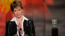 Mary Tyler Moore accepts the Life Achievement award at the 18th Annual Screen Actors Guild Awards on Sunday Jan. 29, 2012 in Los Angeles. (AP / Mark J. Terrill)