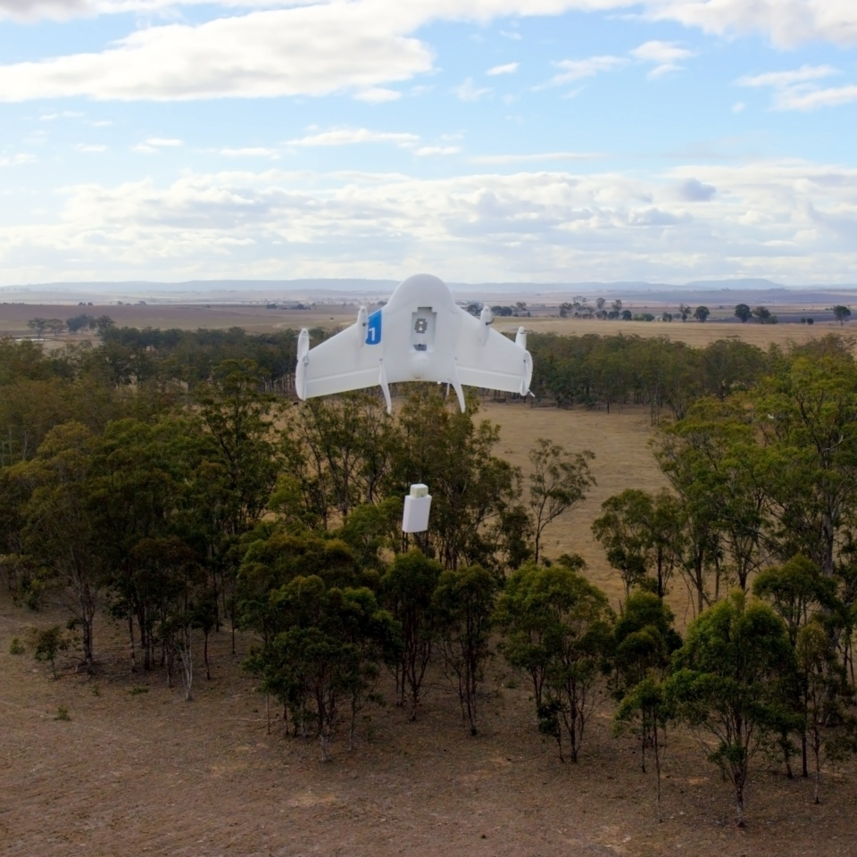 This undated image provided by Google shows a Project Wing drone vehicle during delivery. (AP Photo/Google)