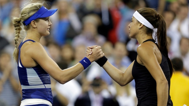 Eugenie Bouchard advances at US open