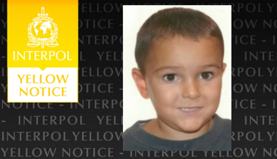 The Yellow Notice issued by the international police force Interpol, Friday Aug. 29, 2014.  (AP / Interpol)