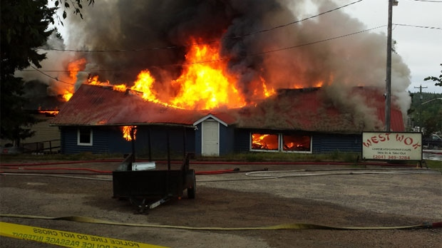 Dare, owner of the West Wok restaurant attached to the West Hawk Inn, said he almost cried when he saw the flames engulfing his business. (photo courtesy Stephen Dare)