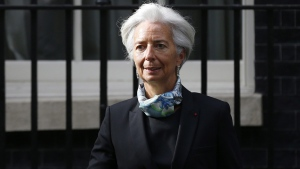 Christine Lagarde, Managing Director of the International Monetary Fund leaves 10 Downing Street in London, Tuesday, June 17, 2014. (AP / Sang Tan)