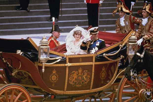 Princess Diana, Charles on their wedding day