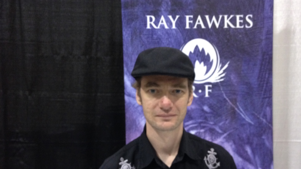 Canadian Ray Fawkes appears at Fan Expo Canada in Toronto, Aug. 28, 2014.