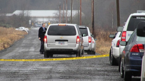 A body was found in Maple Ridge Tuesday morning. Jan. 31, 2012. (CTV)