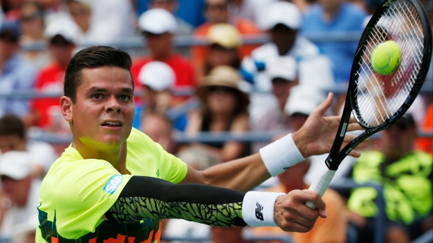 Milos Raonic at the 2014 U.S. Open